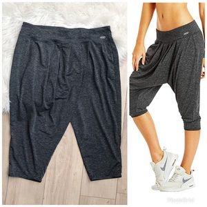 LORNA JANE Hi Life Harem Style Crop Gray Pants! M
